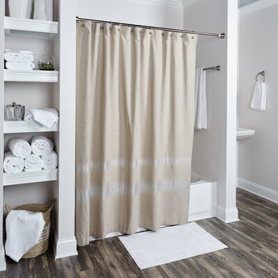 Orcus Cotton Shower Curtain Color: Taupe