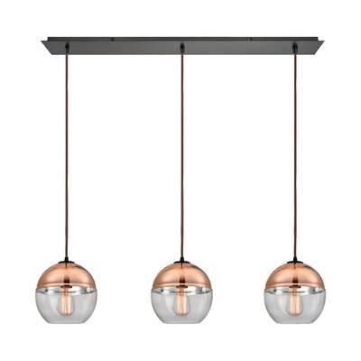 Toothaker 3-Light Kitchen Island Pendant