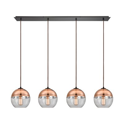 Toothaker 4-Light Kitchen Island Pendant
