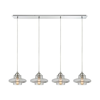 Toothman 4-Light Kitchen Island Pendant Finish: Polished Chrome