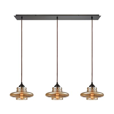 Toothman 3-Light Kitchen Island Pendant Finish: Oil Rubbed Bronze