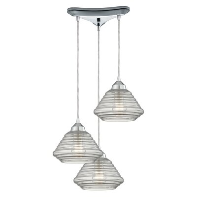 Toothman 3-Light Pendant