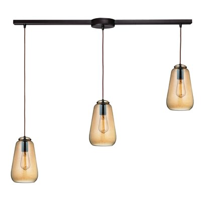Toothman 3-Light Kitchen Island Pendant