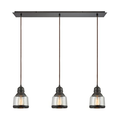 Topete 3-Light Kitchen Island Pendant Finish: Oil Rubbed Bronze