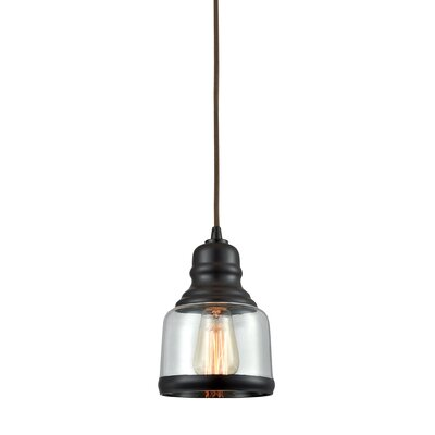 Topete 1-Light Mini Pendant Finish: Oil Rubbed Bronze