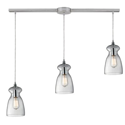 Topete 3-Light Kitchen Island Pendant
