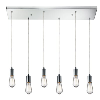 Topete 6-Light Kitchen Island Pendant