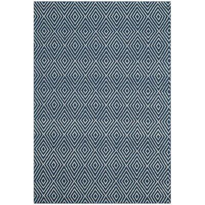 Shaler Hand-Hooked Blue Area Rug Rug Size: 4 x 6