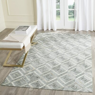 Sevastopol Hand-Woven Ivory/Gray Area Rug Rug Size: 4 x 6