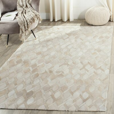 Sevastopol Hand-Woven Ivory Area Rug Rug Size: 5 x 8