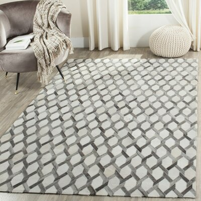 Sevastopol Hand-Woven Ivory/Gray Area Rug Rug Size: 4' x 6'