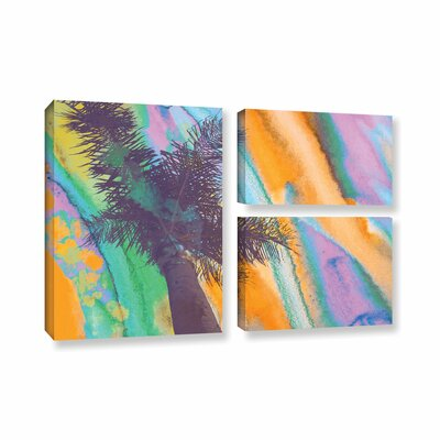 California Sunset 2 3 Piece Painting Print on Wrapped Canvas Set