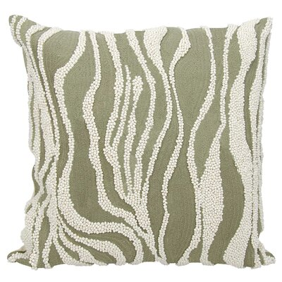 Hertzog 100% Cotton Throw Pillow Color: Green/White