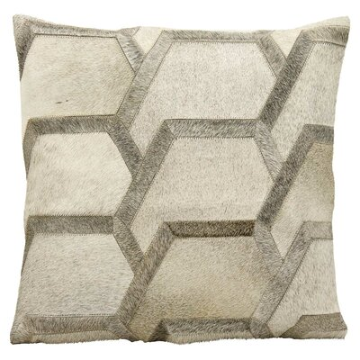 Sedgley Natural Leather Hide Throw Pillow