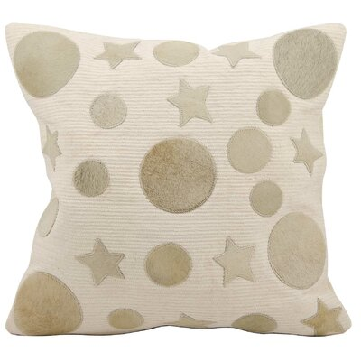 Serpentis Leather Throw Pillow Color: Beige