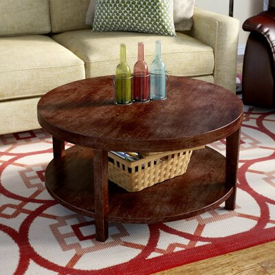 Fabiano Round Coffee Table Finish: Mahagony