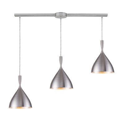 Fielder 3-Light Linear Pendant