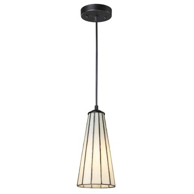 Fishburn 1-Light Mini Pendant Shade Color: Comet White