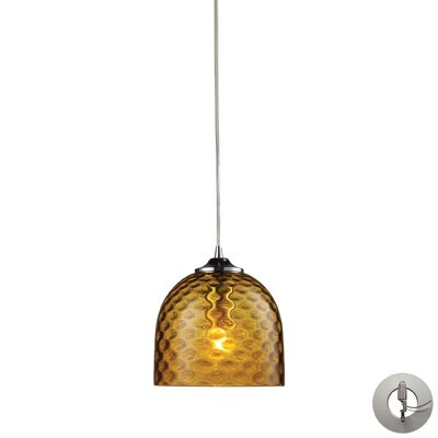 Everson 1-Light Mini Pendant Shade Color: Green