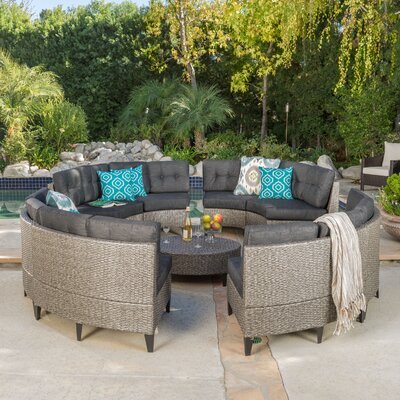Stoneman Wicker 10 Piece Deep Seating Group