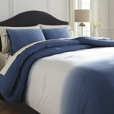 Sinderen 3 Piece Comforter Set Color: Blue, Size: King