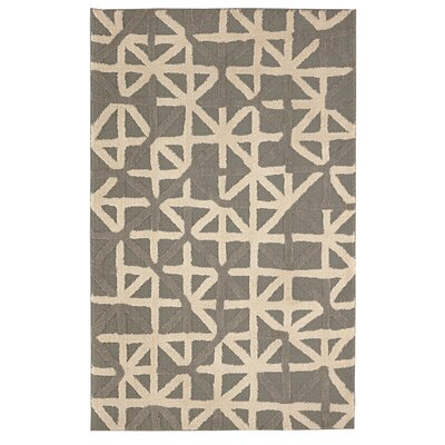 Nickson Grid Iron Gray/Beige Area Rug