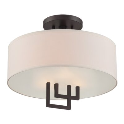Surabaya 2-Light Semi-Flush Mount