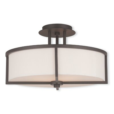 Rainer 3-Light Semi-Flush Mount Finish: Bronze