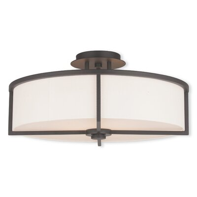 Rainer 4-Light Semi-Flush Mount Finish: Bronze