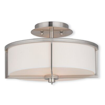 Rainer 2-Light Semi-Flush Mount Finish: Bronze