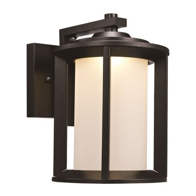 Loeffler 1-Light Outdoor Wall Lantern Finish: Black