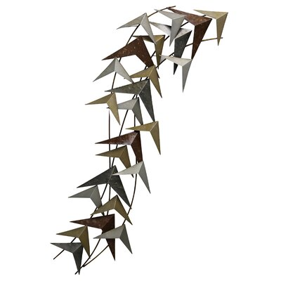 Metal Birds in Flight Wall Décor