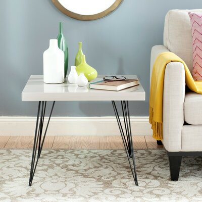 Motta End Table Finish: Taupe / Black