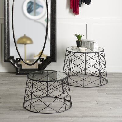 Vaughn 2 Pieces End Table Set