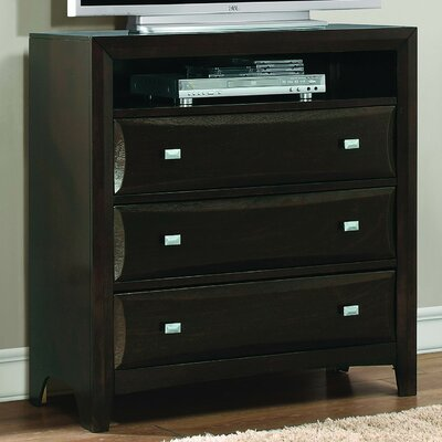 Beck 3 Drawer Media Chest