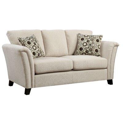 Pickens Loveseat Upholstery: Ivory