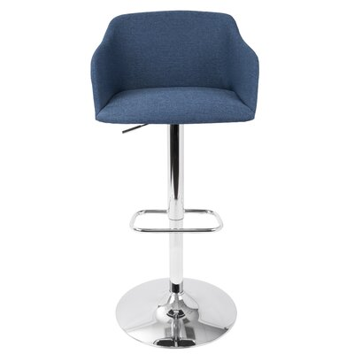 Truby 23.5 Swivel Bar Stool Upholstery: Blue