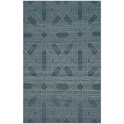 Delrio Hand-Woven Blue Area Rug Rug Size: 4' x 6'