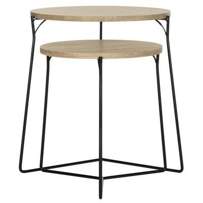 Dejong 2 Piece Nesting Tables Color: Light Gray/Black