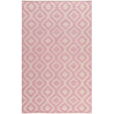Vermont Hand-Woven Ivory/Pink Area Rug Rug Size: Rectangle 8 x 10
