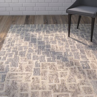 Venuti Rosalyne Hand Woven Beige/Brown Area Rug Rug Size: Rectangle 56 x 8