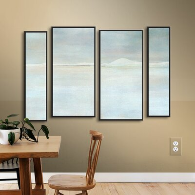 Landscape Snow 4 Piece Framed Painting Print on Wrapped Canvas Set