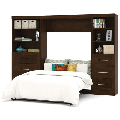 Walley Murphy Bed Color: Chocolate