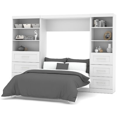 Walley Murphy Bed Color: White