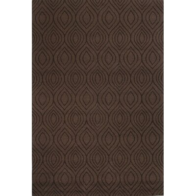 Luckey Hand-Woven Chocolate Area Rug Rug Size: Rectangle 76 x 96