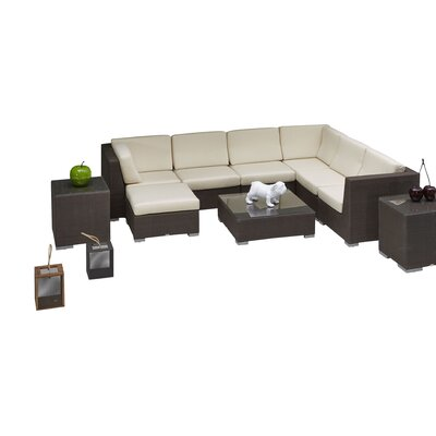 Westcott 6 Piece Deep Sectional Seating Group with Cushion