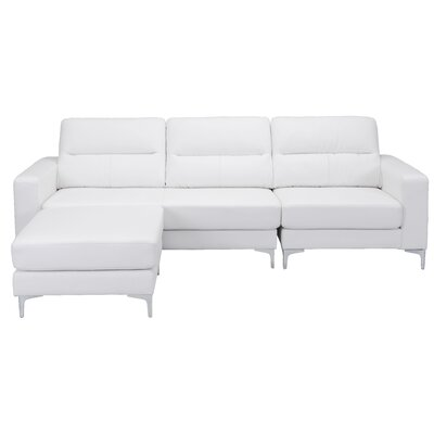 Nott Reversible Sectional Upholstery: White