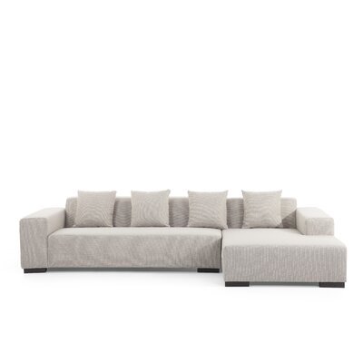 Bracero Sectional Upholstery: Beige, Orientation: Right Hand Facing