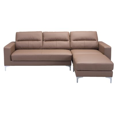 Nott Reversible Sectional Upholstery: Brown