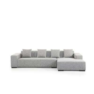 Bracero Sectional Orientation: Right Hand Facing, Upholstery: Gray